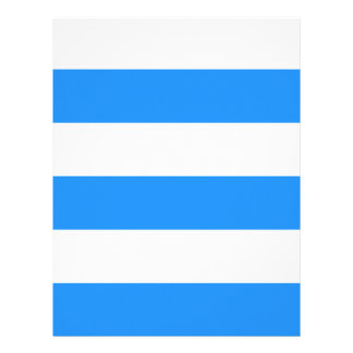 Wide Stripes - White and Dodger Blue Letterhead