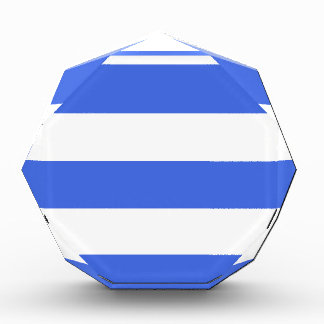 Wide Stripes - White and Royal Blue Acrylic Award