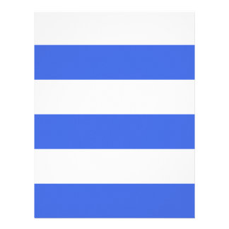 Wide Stripes - White and Royal Blue Letterhead