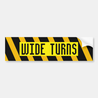 WIDE TURNS bumper sticker
