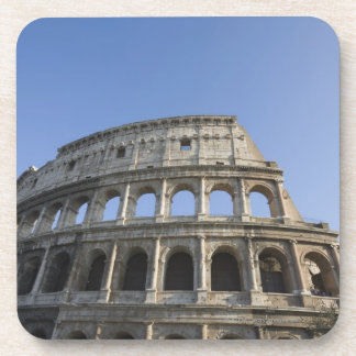 Wide view looking up at the Roman Colosseum with Beverage Coaster