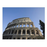 Wide view looking up at the Roman Colosseum with Postcard