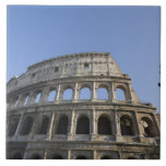Wide view looking up at the Roman Colosseum with Ceramic Tiles