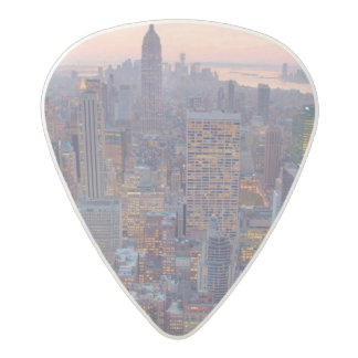Wide view of Manhattan at sunset Acetal Guitar Pick