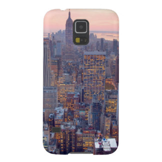 Wide view of Manhattan at sunset Galaxy S5 Covers