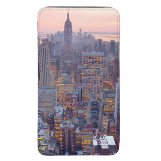 Wide view of Manhattan at sunset Galaxy S5 Pouch