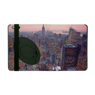 Wide view of Manhattan at sunset iPad Cases