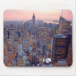 Wide view of Manhattan at sunset Mouse Pads