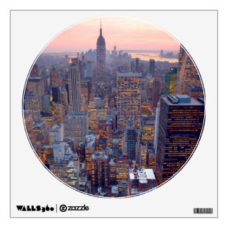 Wide view of Manhattan at sunset Wall Stickers