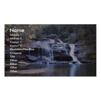 Wide Waterfall Into A Shallow Pool Business Card Template