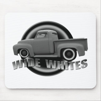 wide whites on steels mouse pad