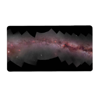 Widefield Milky Way Galaxy Composite Panorama Label