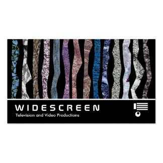 Widescreen 0425 - Mineral Stripes Business Card Templates