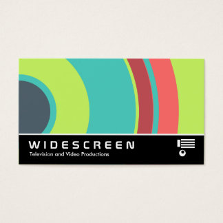 Widescreen 0430 - Colorful  Circle 04 Business Card