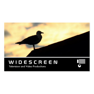 Widescreen 0475 - Herring Gull Sunset Double-Sided Standard Business Cards (Pack Of 100)