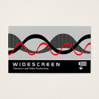 Widescreen 0526 - Sound Waves Business Card