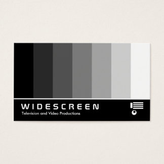 Widescreen 160 - Color Blend - Black to White Business Card