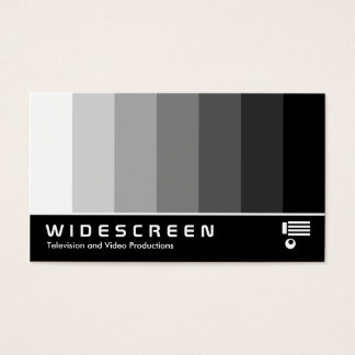 Widescreen 162 - Color Blend - White to Black Business Card