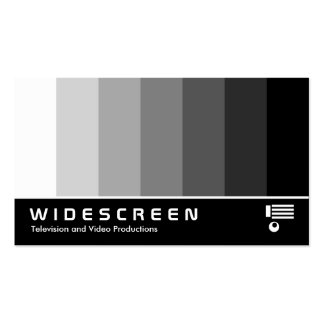 Widescreen 162 - Color Blend - White to Black Business Cards