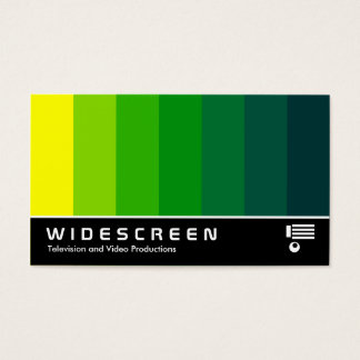 Widescreen 163 - Color Blend - Yellow to Dk Green Business Card