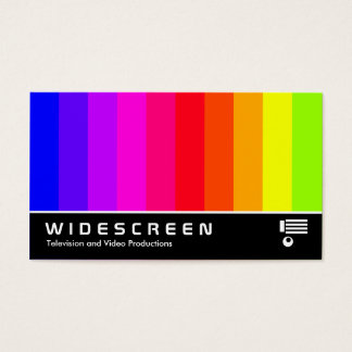 Widescreen 176 - Color Bars Business Card