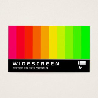Widescreen 177 - Color Bars Business Card