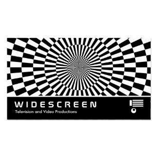 Widescreen 180 - Op Art Business Card