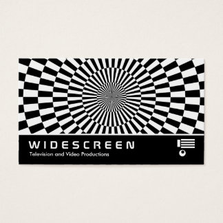 Widescreen 180 - Op Art Business Card