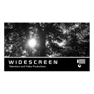 Widescreen 229 - Sun Through Trees B&W Double-Sided Standard Business Cards (Pack Of 100)