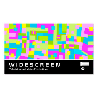 Widescreen 256 - Color Abstract Business Card Template