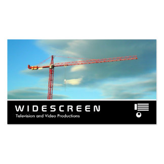 Widescreen 336 - Red Crane Double-Sided Standard Business Cards (Pack Of 100)