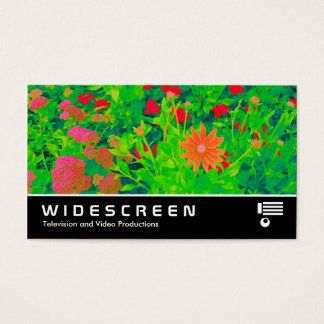 Widescreen 395 - Psychedelic Flower Bed Business Card