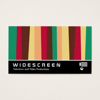 Widescreen 397 - Irregular Stripes 02 Business Card