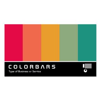 Widescreen Colorbars 02 Business Card Templates