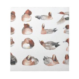 Widgeon. Waterfowl duck gift Memo Pad