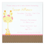 Widget Giraffe Baby Shower Invitation Girl
