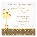 Widget Giraffe Baby Shower Invitation Girl/Boy