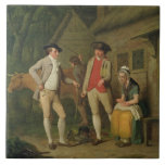 Widow Costard's Cow and Goods, Distrained for Taxe Large Square Tile