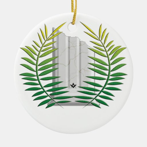 Widows Column Double-Sided Ceramic Round Christmas Ornament
