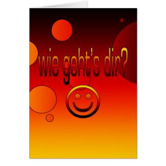 Wie Geht´s Dir German Flag Colors Pop Art Greeting Cards