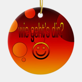 Wie Geht´s Dir? German Flag Colors Pop Art Ornaments