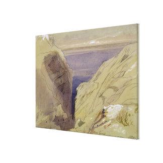 Wied Zurrik, Malta, 10, el 11 de marzo (w/c, pluma Impresión En Lona Estirada