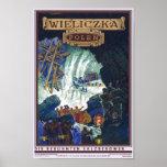 Wieliczka Polen / Poland Travel Salt Mine Art Poster