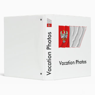 Wielkopolskie - Greater Poland waving flag 3 Ring Binder