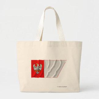 Wielkopolskie - mayor bandera que agita de Polonia Bolsa Tela Grande