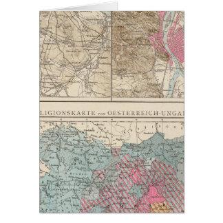 Wien, Prag, BudaPest Map Card