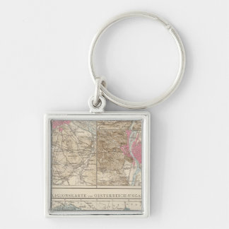 Wien, Prag, BudaPest Map Keychain