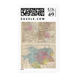 Wien, Prag, BudaPest Map Stamp
