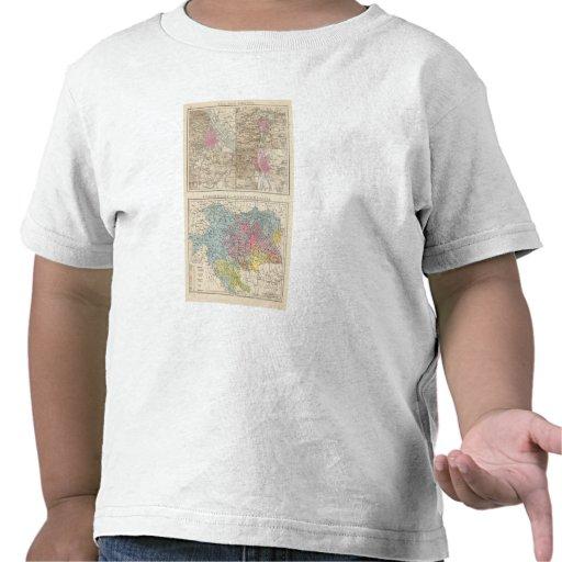 Wien, Prag, BudaPest Map Tshirt