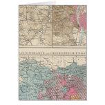 Wien, Prag, mapa de Budapest Felicitacion